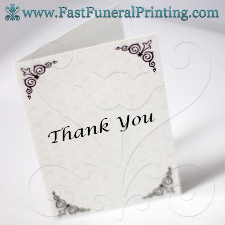 13 best Thank You Cards images on Pinterest Thank you cards - funeral thank you note