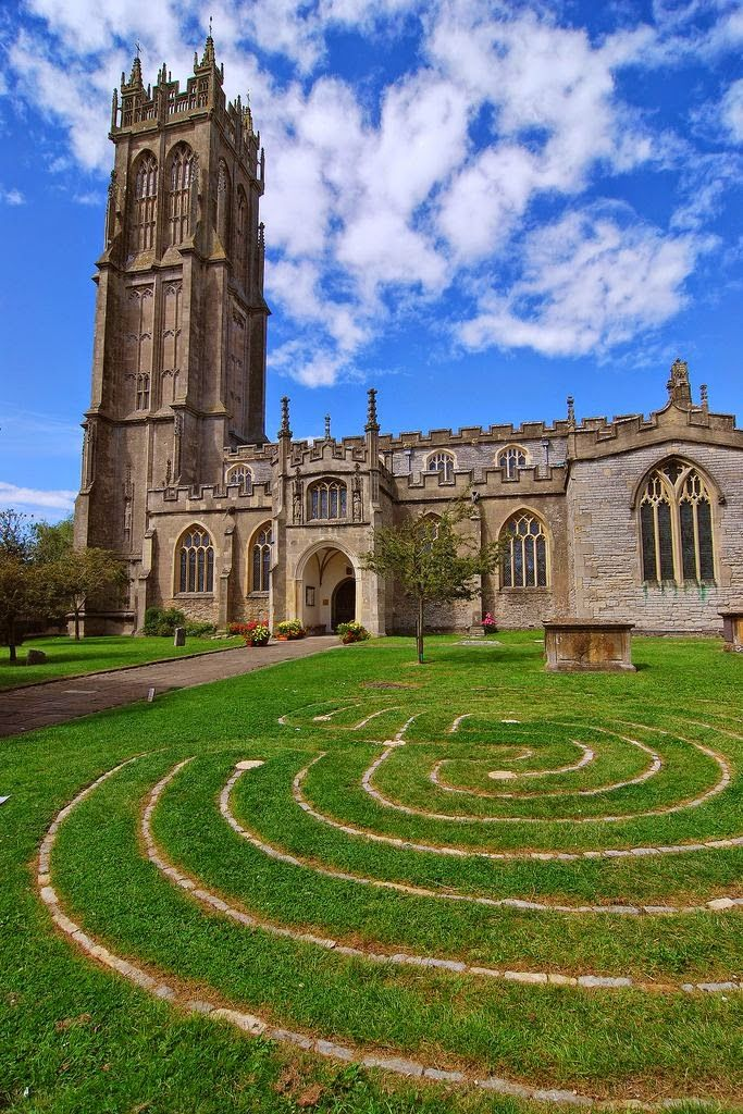 Church of St John in Glastonbury - Somerset, England..