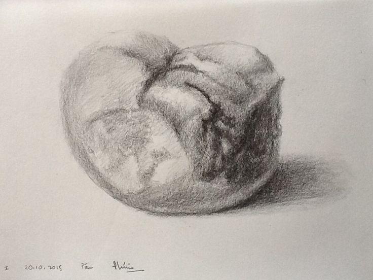 Bread - Pão - 20.10.2015 Grafite on paper Le Grand - 70 g/m2 14.8 x 21 cm