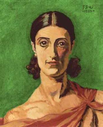 Innocent - portrait of Michelle Bourret, 1933, by JENS FERDINAND WILLUMSEN