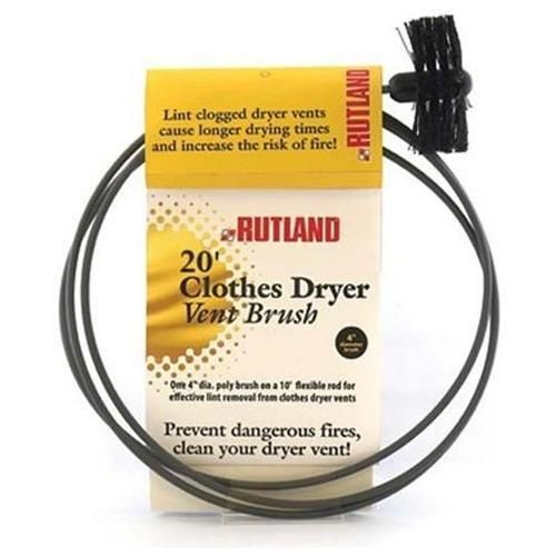 Rutland 17420 Pellet Stove And Dryer Vent Brush, Round