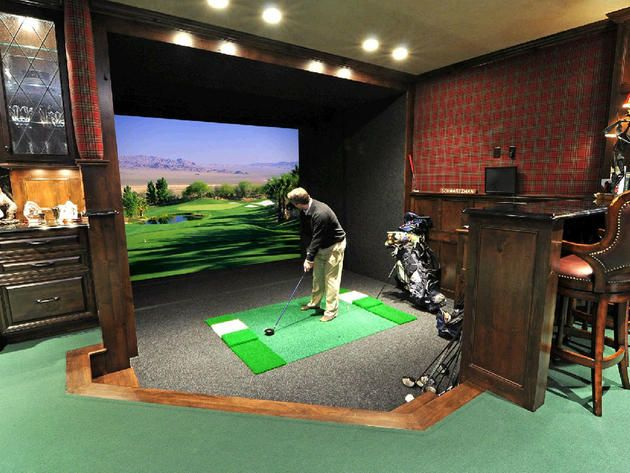 17 best images about golf simulators screens and room for Indoor game room ideas