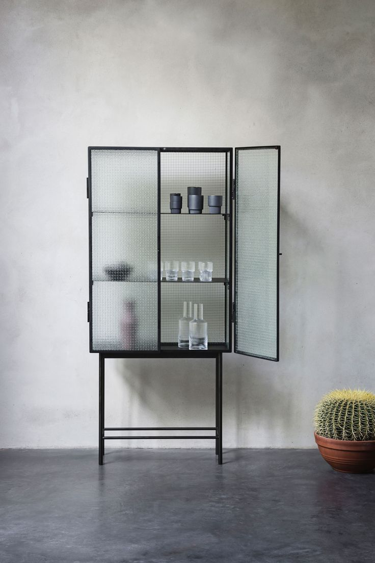 Love, love, love the industrial take on a high credenza by Firm Living.