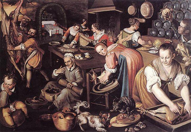 La cocina, Vinçenço Campi. (Dominio Público)