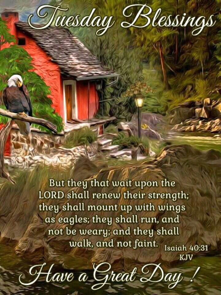 TUESDAY BLESSINGS: Isaiah 40:31 (1611 KJV !!!!) HAVE A GREAT DAY !!!!