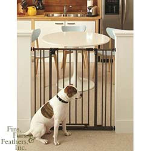 Adjustable Pet Gate With Pressure Mounts And Is Easy To Install. Tension  Knobs Secure The Gate In Openings.    Gate Swings Both Ways.
