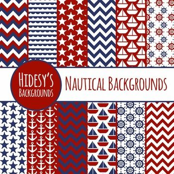 12 Nautical / Sea / Ocean themed digital papers / backgrounds.Digital backgrounds are great for digital and print use including powerpoint, scrapbooking, invitations, worksheets, cards, cover sheets, etc.All files are 10 inch by 10 inch squares, at 300dpi.