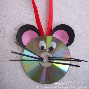 CD Mouse   AllFreeKidsCrafts.com