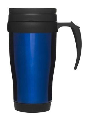 Bilkopp, blåRustfritt stål, plastikk lokk m drikkeåpning. Størrelse: 50 cl Emballasje: Giftbox