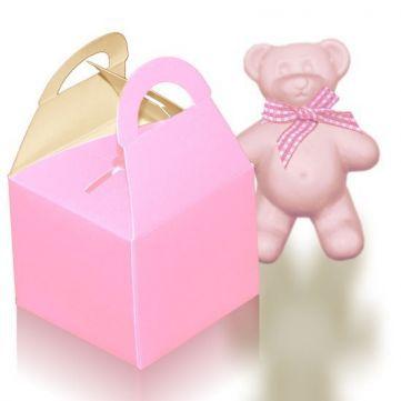 Mini cajita de regalo Rosa bebé, ideal para detalles de recién nacido.  #diy  #packaging