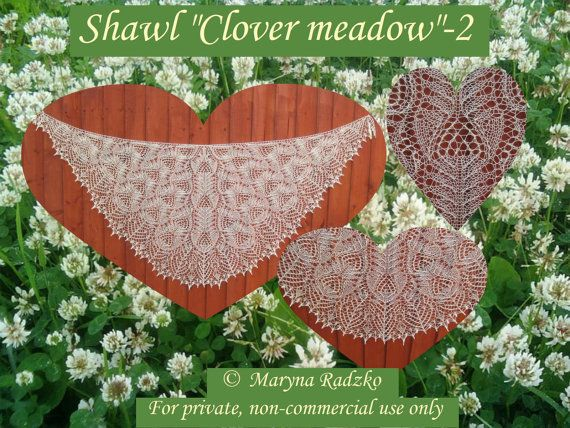 Pattern for handmade knitted beaded shawl by CreativeHandsIdeas