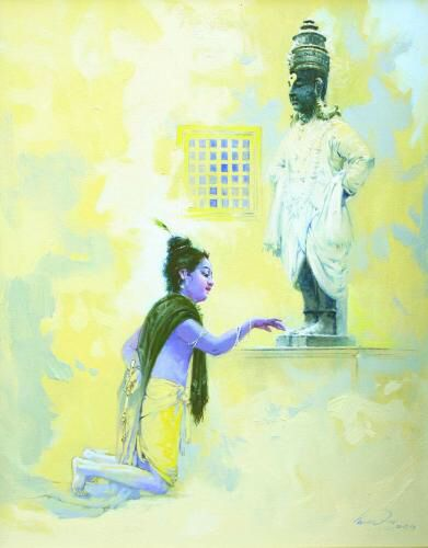 Image from http://www.nehru-centre.org/artfusion2014/paintings/Vasudeo_Kamath/big.jpg.