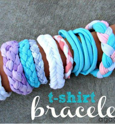 Easy to make T-shirt bracelets / Fonott karkötők többféle verzióban megunt pólókból /  Mindy -  creative craft ideas