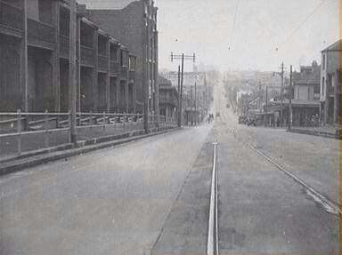 Cleveland St,Chippendale,inner suburb of Sydney (year unknown).A♥W