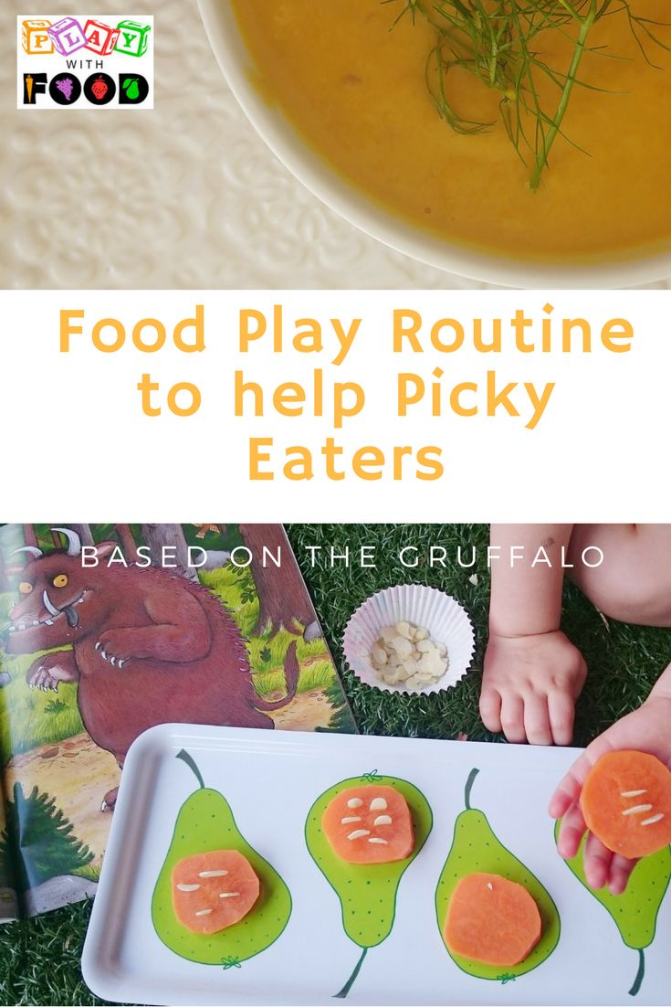 GRUFFALO FOOD PLAY IDEAS in an effective session play for assisting picky eaters that need some playful exposures to learn about new foods. By feeding specialist, Simone Emery from Play with Food.