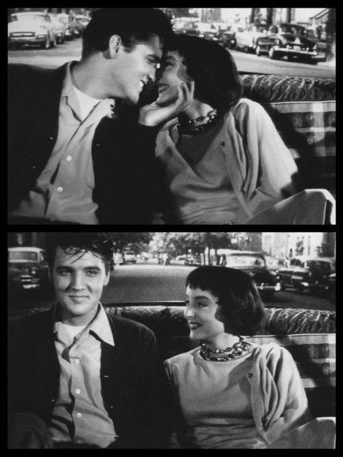 "Carolyn Jones and Elvis Presley (Ronnie and Danniel) in ""King Creole"""