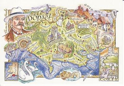 Dorset postcard map.