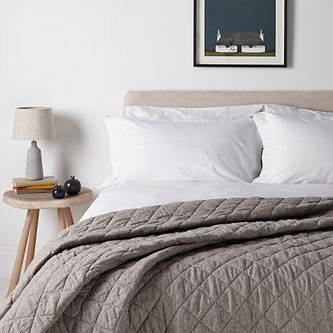 Buy John Lewis Croft Collection Brushed Cotton Bedspread Online at johnlewis.com