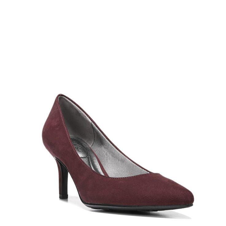 Lifestride Women's Sevyn Narrow/Medium/Wide Pump Shoes (Pinot Noir)