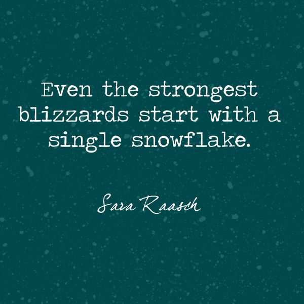 A Single Snowflake - Beautiful and True Winter Quotes - Photos