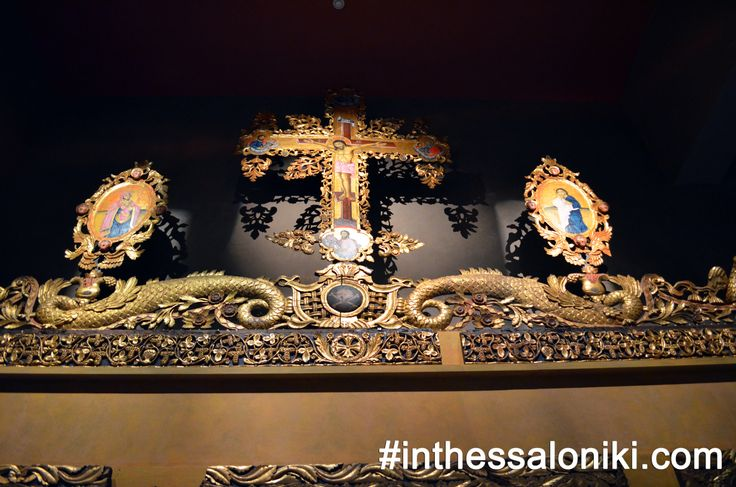 """● A wonderful representation of a really detailed Byzantine """"Templon"""". Τhe Museum of Byzantine Culture offers a unique opportunity to every visitor to understand how these exhibits stood in their time and place of origin! Click on """"Visit Site"""" for more! ● #thessaloniki #culture #greece #archaeology #travel #byzantino"""