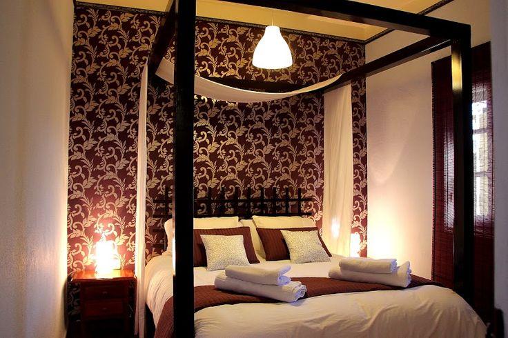 Dormitorio para soñar en pareja en el Gastor - Cádiz, invita a una escapada romántica con tu pareja. Está en plena naturaleza y con una tranquilidad absoluta. http://www.raudo.com/f/casa-rural-romantica-los-algarrobales-en-cadiz/3576