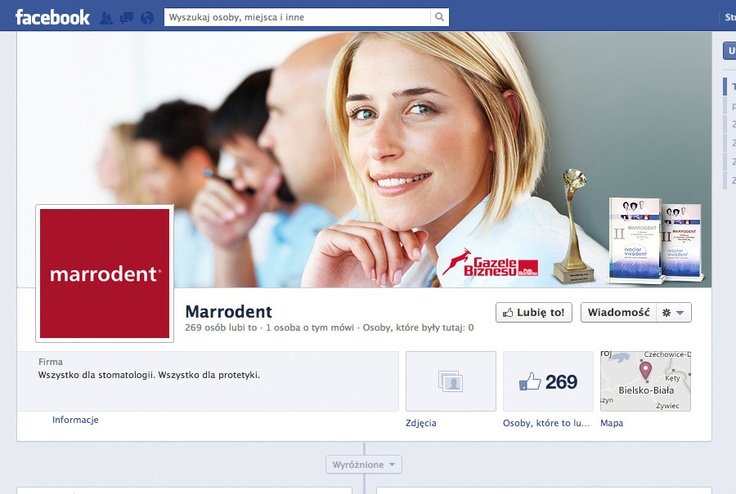 Cover photo i awatar na Fan page marki #Marrodent