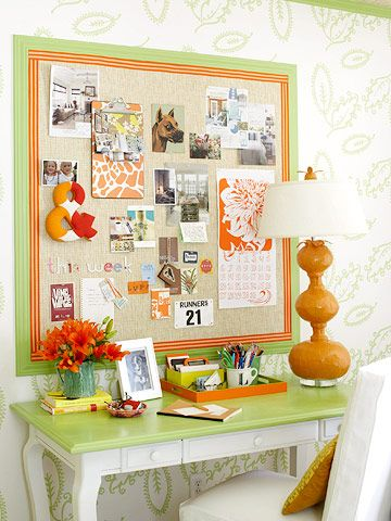 Inspirational Bulletin Board... Every good scrapbook room has an inspiration board to