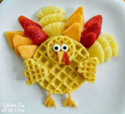 Kitchen Fun With My 3 Sons: Turkey Breakfast ...Gobble Gobble up some Waffles!
