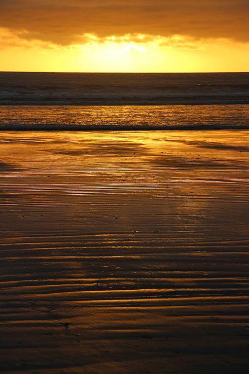 Foxton Beach at Sunset, Manawatu region, North Island, New Zealand