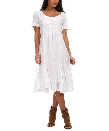 Lin nature white cristina linen dress women plus nature love this and love for Couleur lin clothing