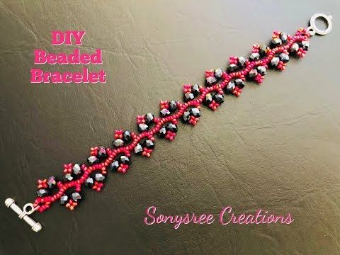 Beaded Vine Bracelet in a new look. Making this in 2 different ways - YouTube