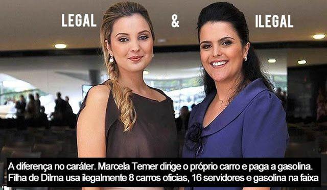 Esposa de Temer dirige o próprio carro. Filha de Dilma tem 8 carros oficiais e 16 servidores | Imprensa Viva