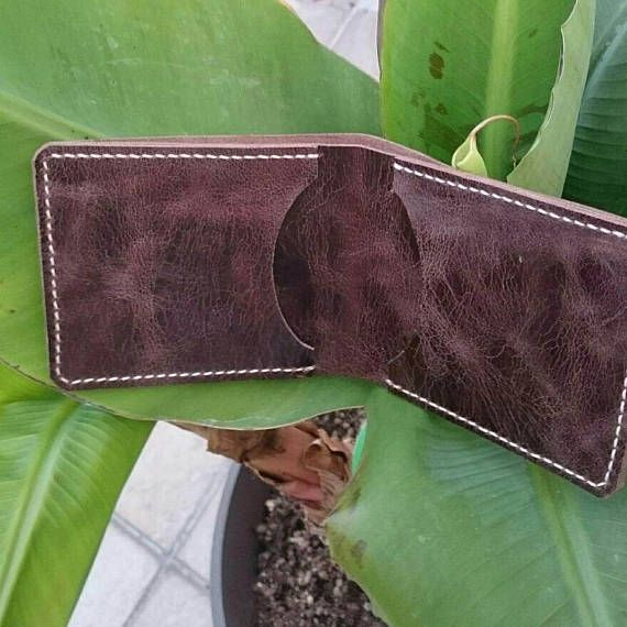 Leather Card Holder Wallet Handcrafted Mens Slim and