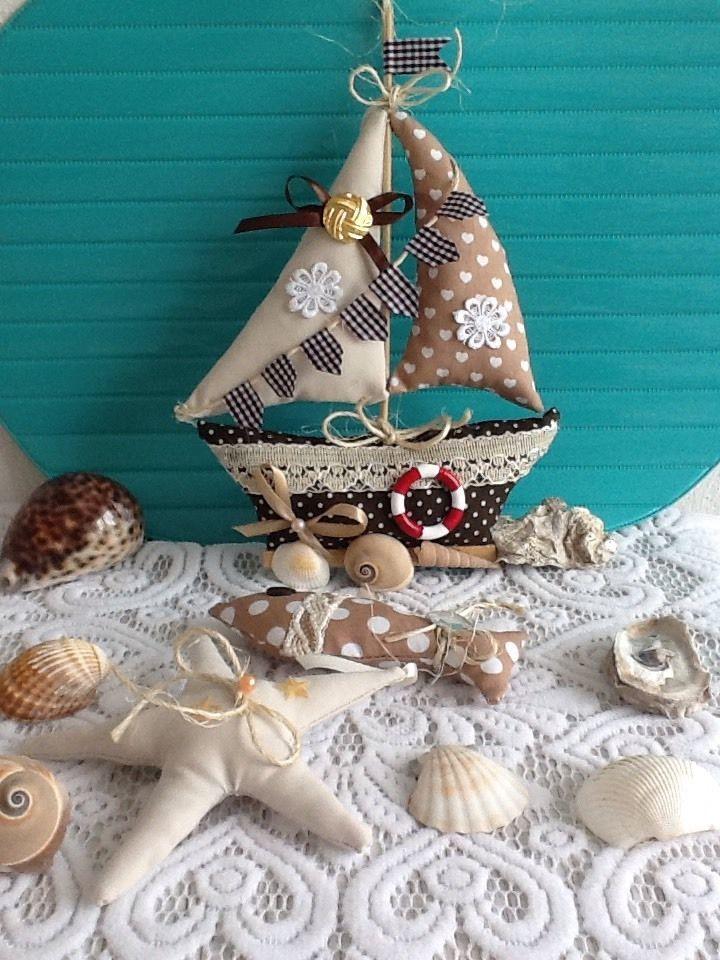 Girlande,Maritim,Segelschiff,Shabby,Landhaus,Tilda-Art,Deko,Sommer,Handarbeit,   eBay