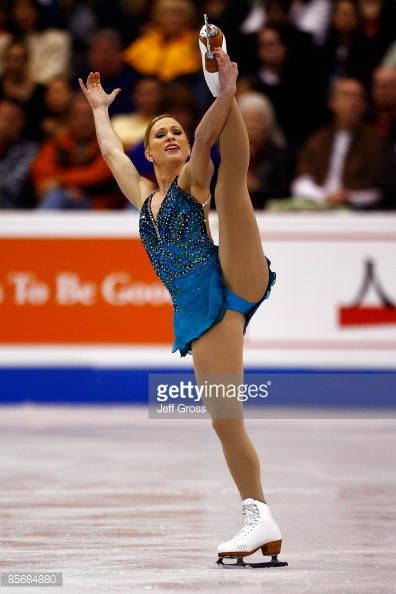 LOS ANGELES, CA - MARCH 28: Joannie Rochette of Canada competes in the Ladies Free Skate during the 2009 ISU World Figure Skating Championships on March 28, 2009 at Staples Center in Los Angeles, California. (Photo by Jeff Gross/Getty Images)