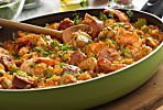 A Hearty and Flavorful Louisiana-Style Chicken, Sausage and Shrimp Skillet