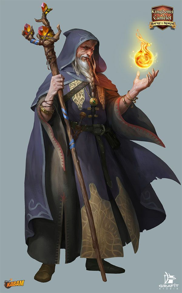 Kabam by Grafit-art Kingdoms of Camelot wizard sorcerer warlock fireball staff armor clothes clothing fashion player character npc | Create your own roleplaying game material w/ RPG Bard: www.rpgbard.com | Writing inspiration for Dungeons and Dragons DND D&D Pathfinder PFRPG Warhammer 40k Star Wars Shadowrun Call of Cthulhu Lord of the Rings LoTR + d20 fantasy science fiction scifi horror design | Not Trusty Sword art: click artwork for source
