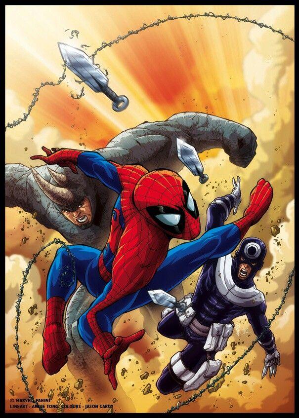 black spiderman vs rhino - photo #40