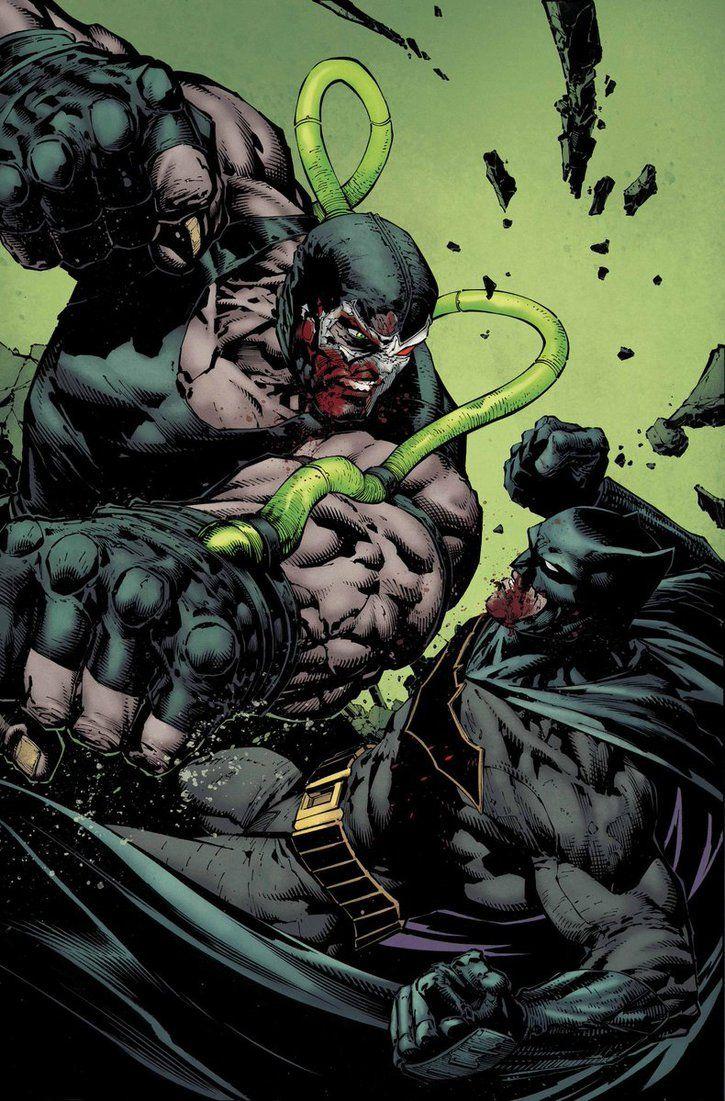 Batman vs Bane by David Finch