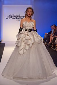 Austin Scarlett closing runway wedding dress, Project Runway All Stars finale