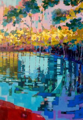 River Acrylic on Canvas 90cms x60cms