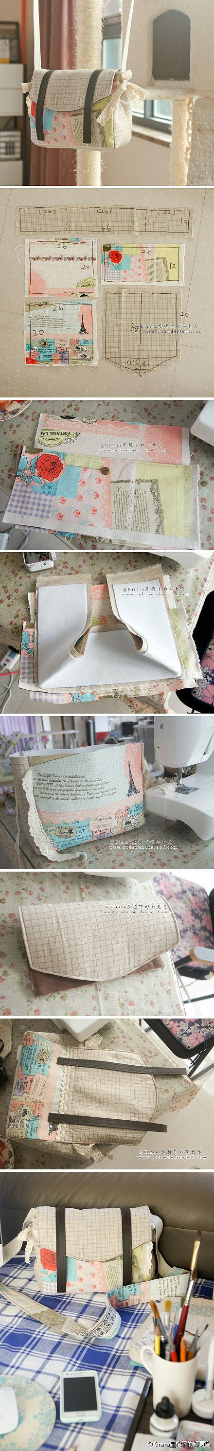 DIY patchwork bag sewing pattern