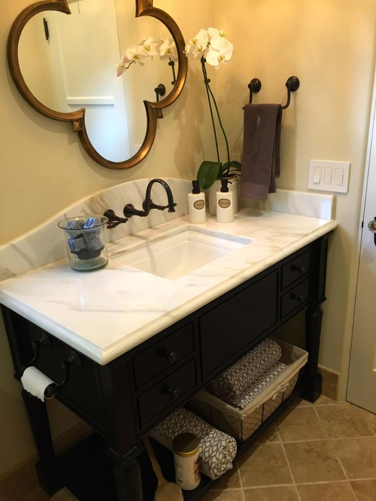 Historystone Landscape White Marble for Barhroom Vanity Tops.