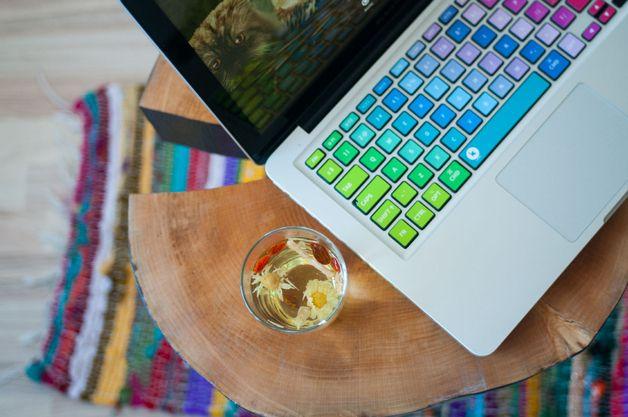 Naklejka na klawiaturę - turbokolor :) - keyshorts - Akcesoria do laptopów