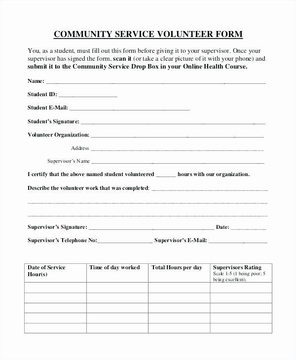 Volunteer Application Form Template Free Inspirational Volunteer