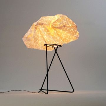 Wonderful Artful, Folded Fabric Lamps Nice Ideas