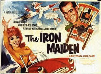 The Iron Maiden is a classic British comedy film from 1962. It features a traction engine of the same name, a fictitious aircraft designer Jack Hopkins and a prototype aircraft... AKA The Handley-Page Victor Bomber. The film was the follow up to Genevieve.