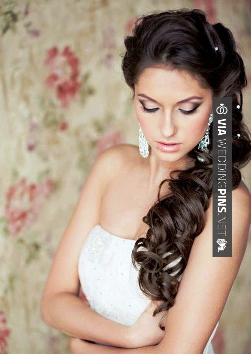 76 best Side Swept Wedding Hair images on Pinterest | Bridal ...