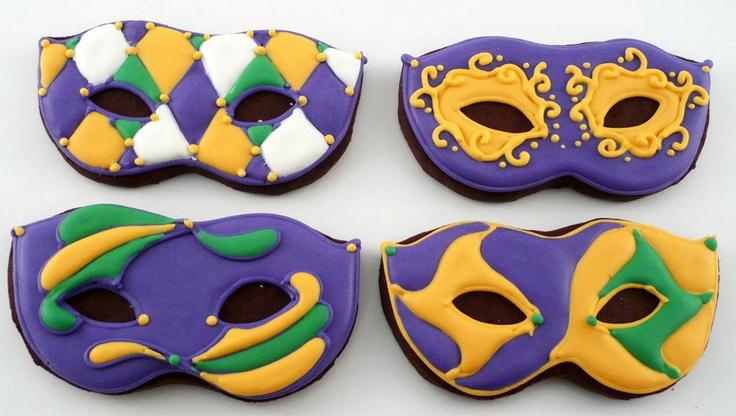 Mardi Gras Mask Cookieshttp://www.cookiecuttercompany.com/birthday/4-inch-masquerede-mask-cookie-cutter